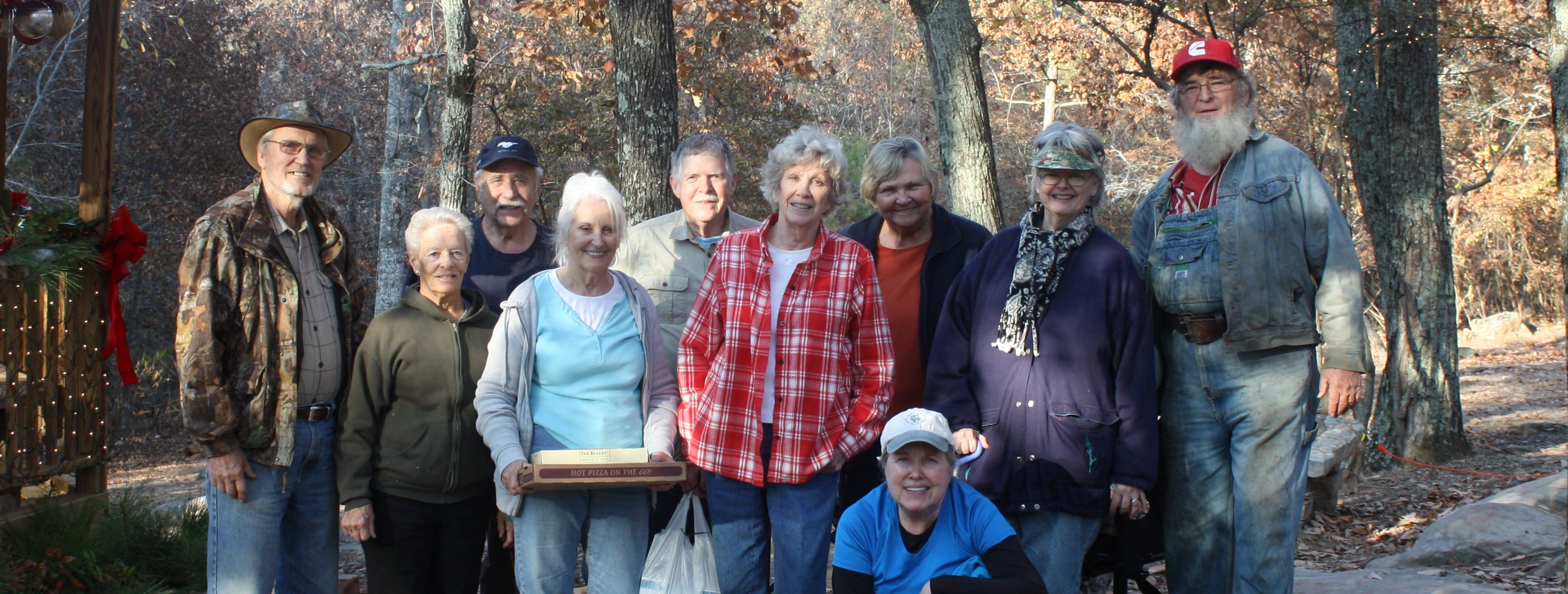 Master Gardeners help to decorate Palisades Park, Oneonta, AL