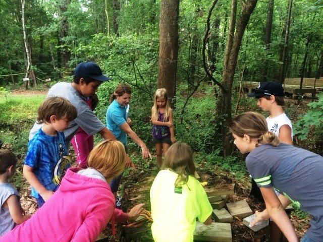 campers in outdoor classroom