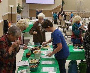 volunteers Judging Beef Cook-Off