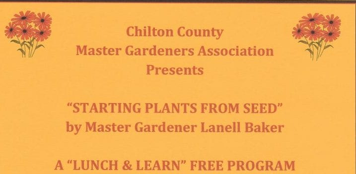 Lunch and Learn Starting Plants from Seed