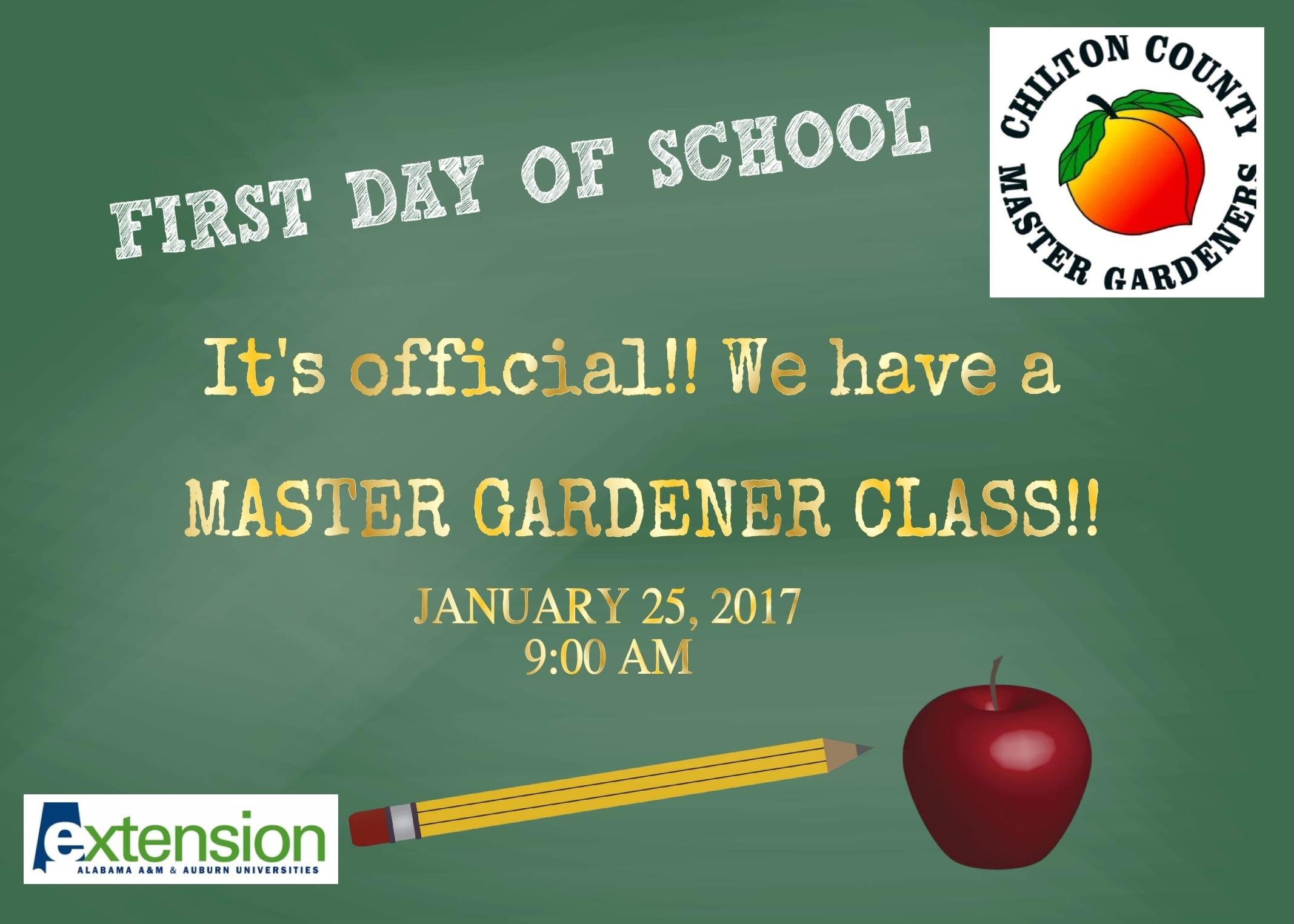2017 Master Gardener Class