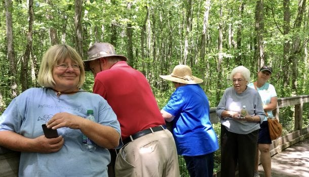 5 members on Ebenezer Swamp tour