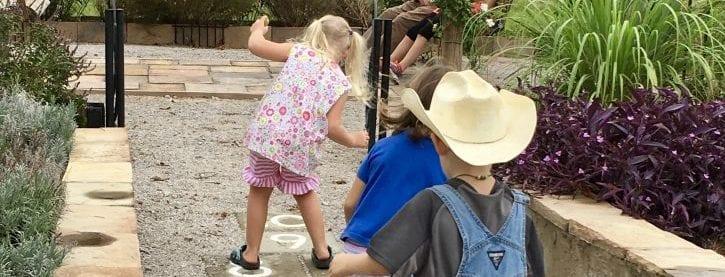 Hopscotch in the Demo Garden