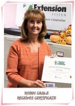 Intern receives certificate