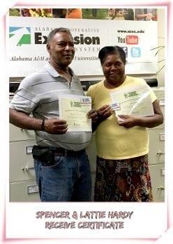 Interns receiving certificates