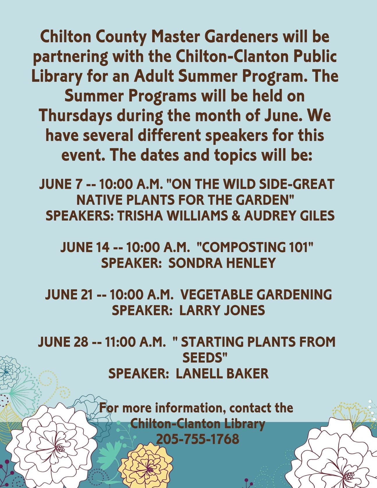 Master Gardeners at the library
