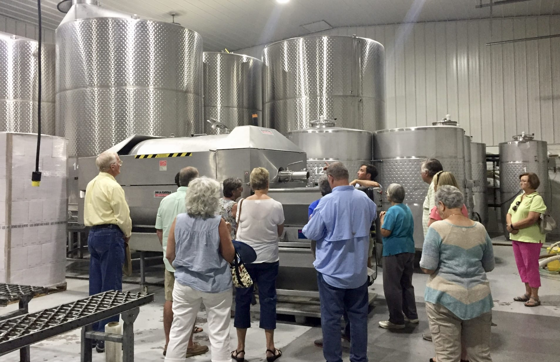 MG's learning about wine making process