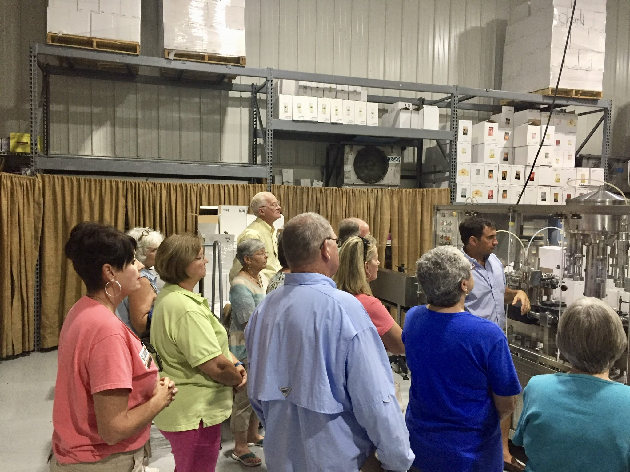 MG's learning about bottling wine.