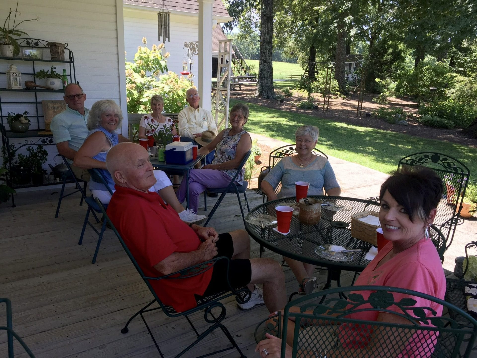 MG's on Trisha's porch eating lunch