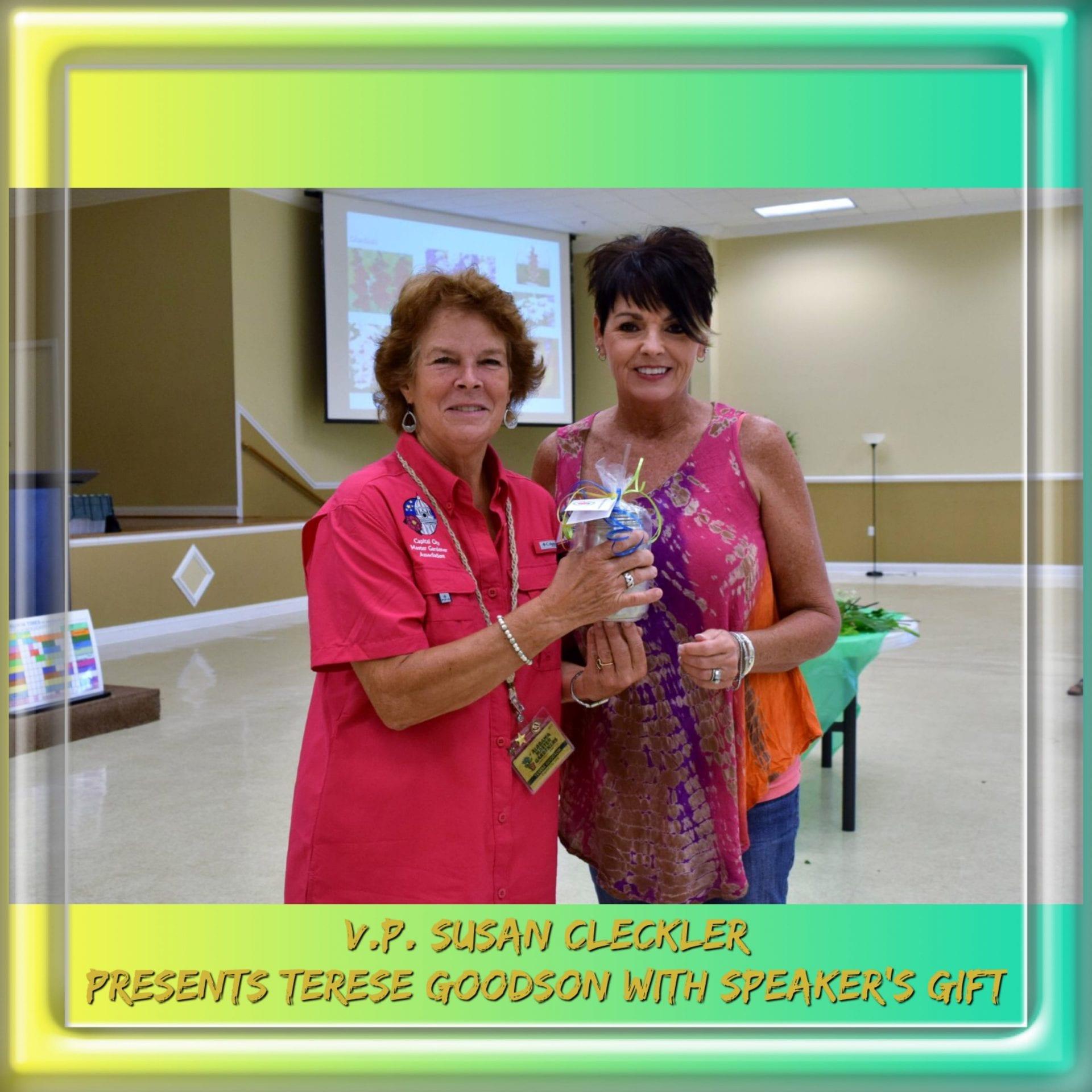 Speaker Terese Goodson and V.P.