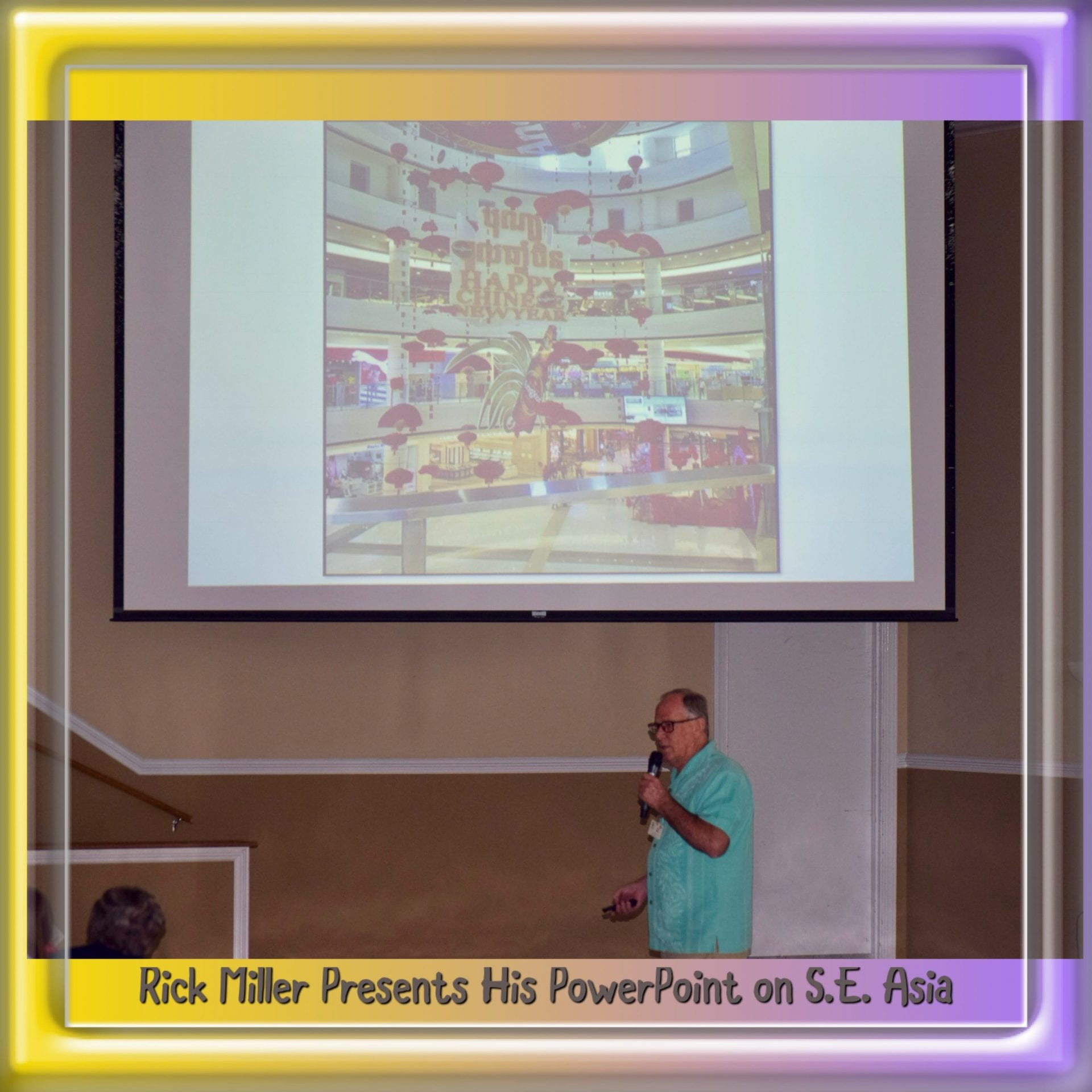 Rick Miller presenting program