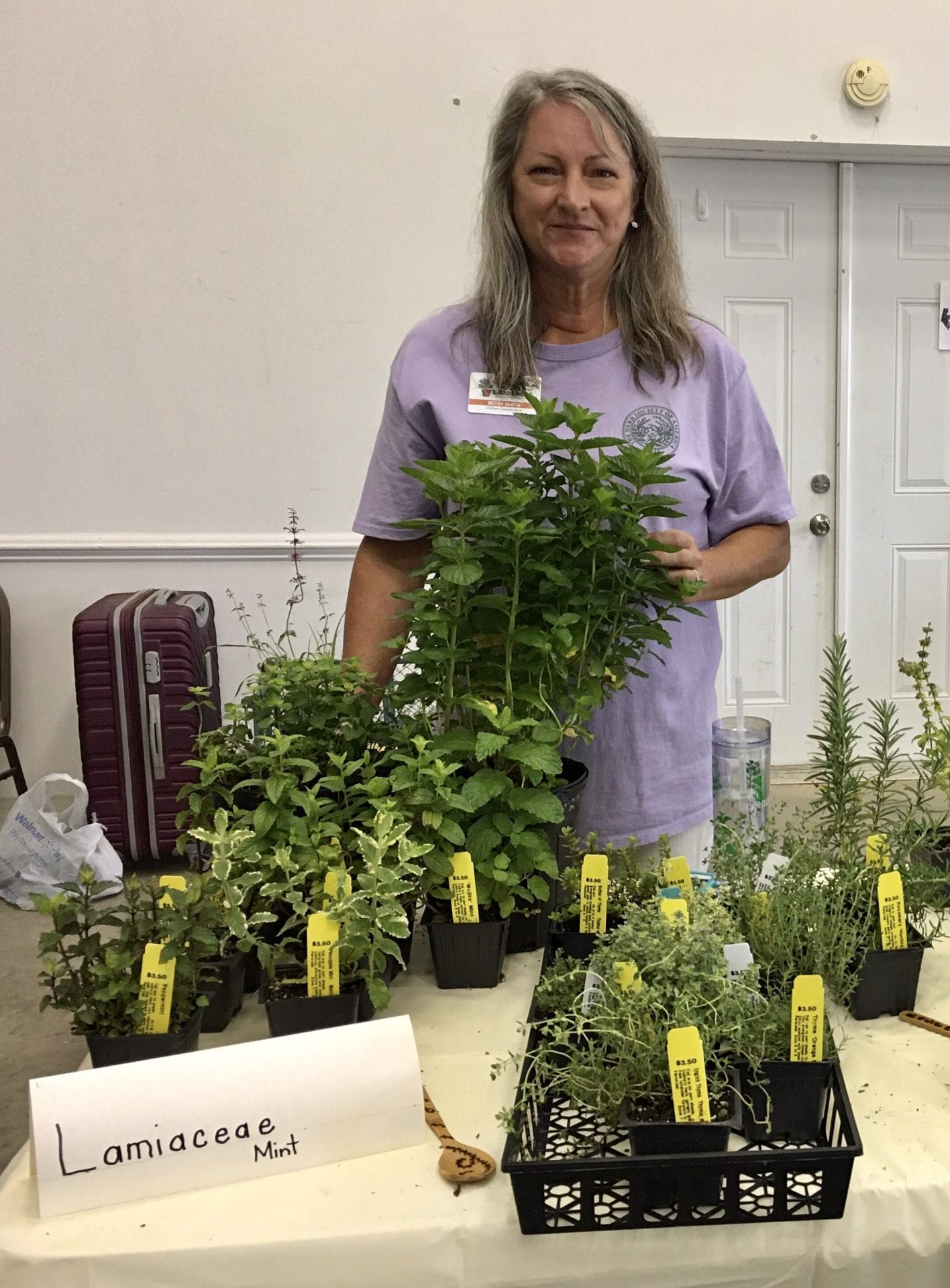 Betsy showing herbs