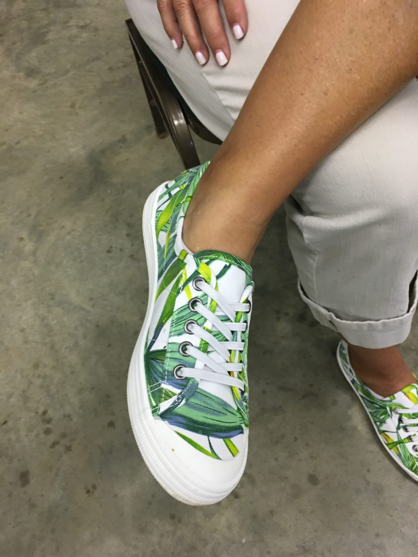 Shoes with Herbs on them