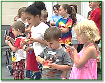Summer Fun Day for Kids - seed spitting contest