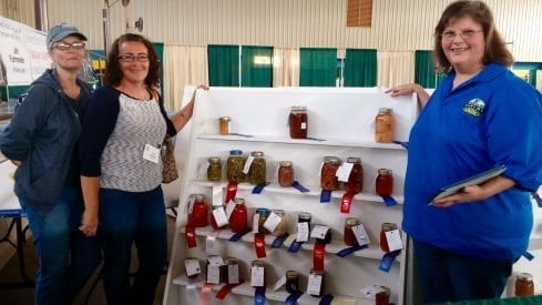 Master Gardener members judge canned goods