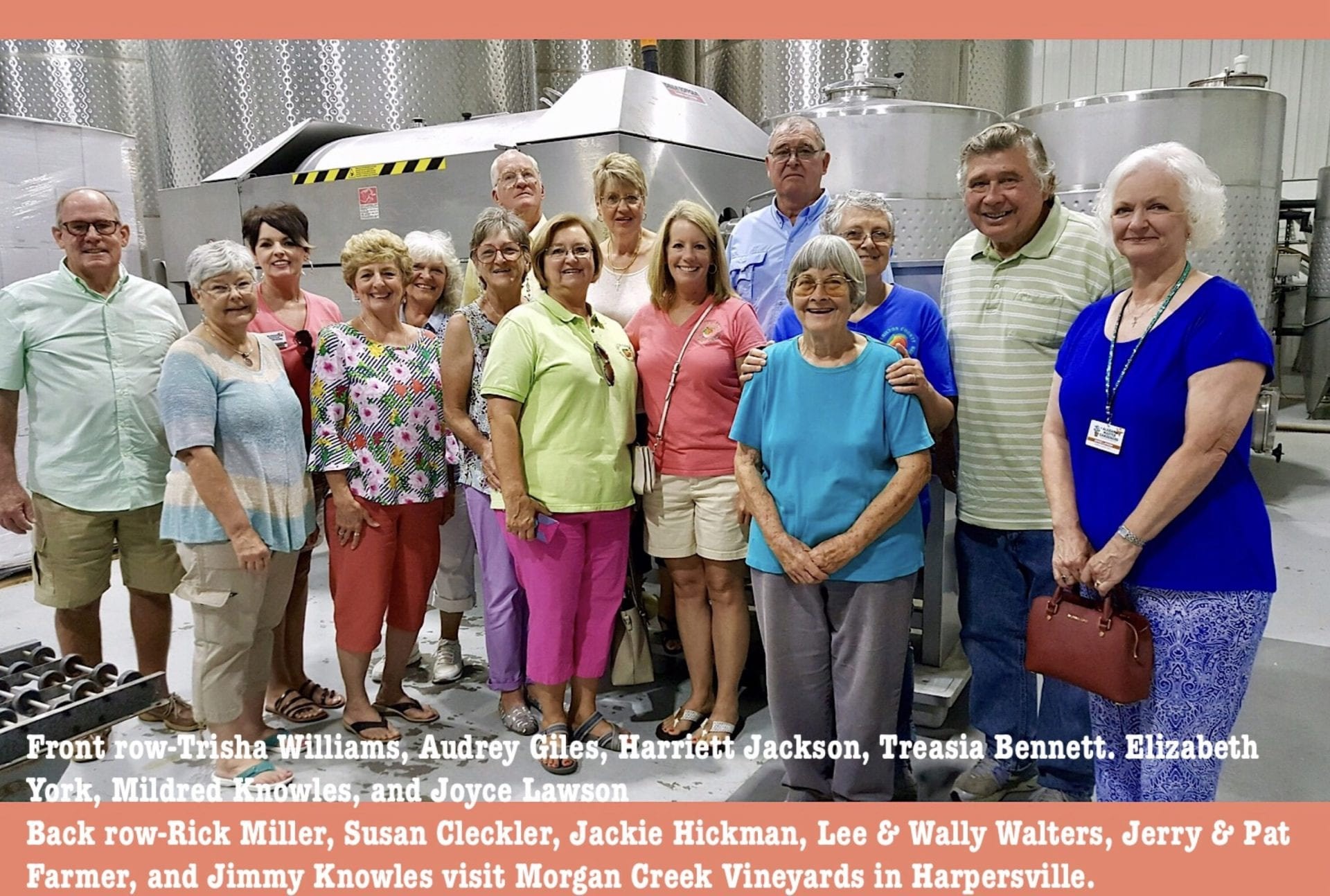 MG touring winery