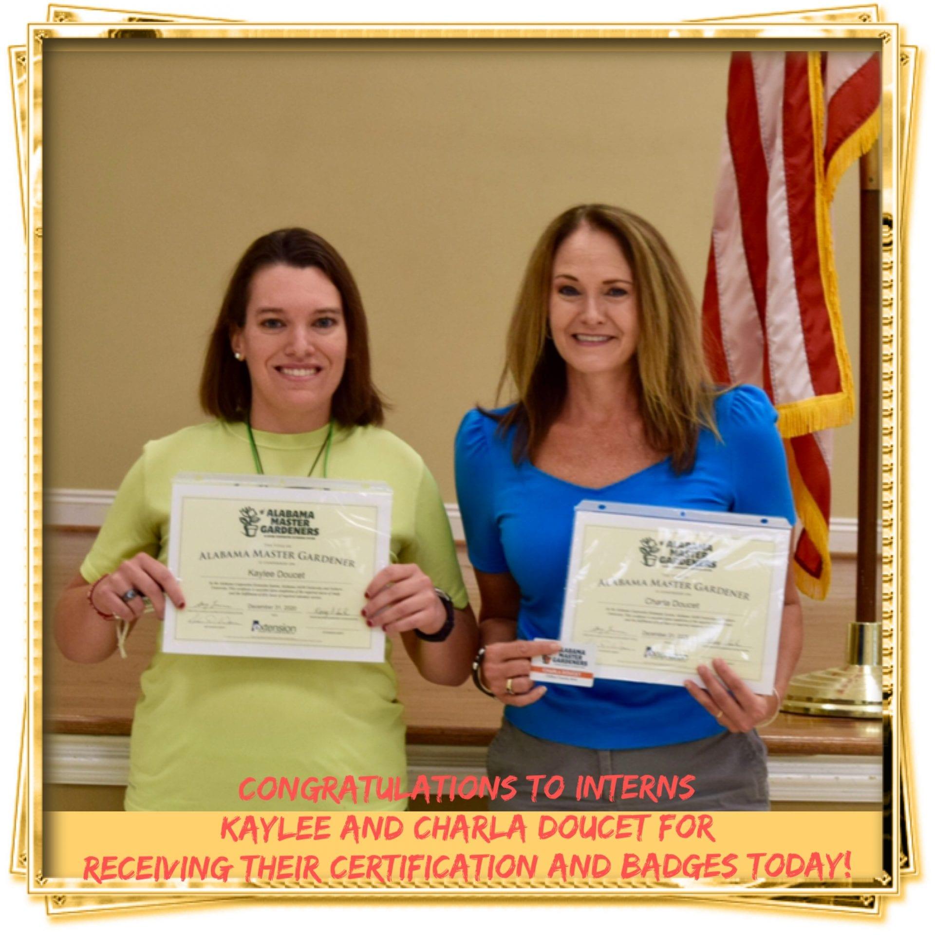 Master gardeners getting certificates