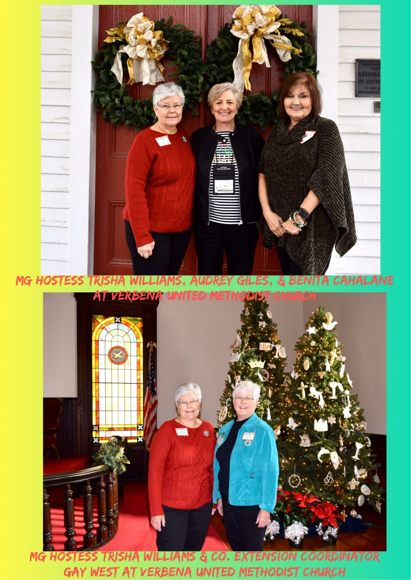 Master Gardener hostesses at Verbena U. M. Church