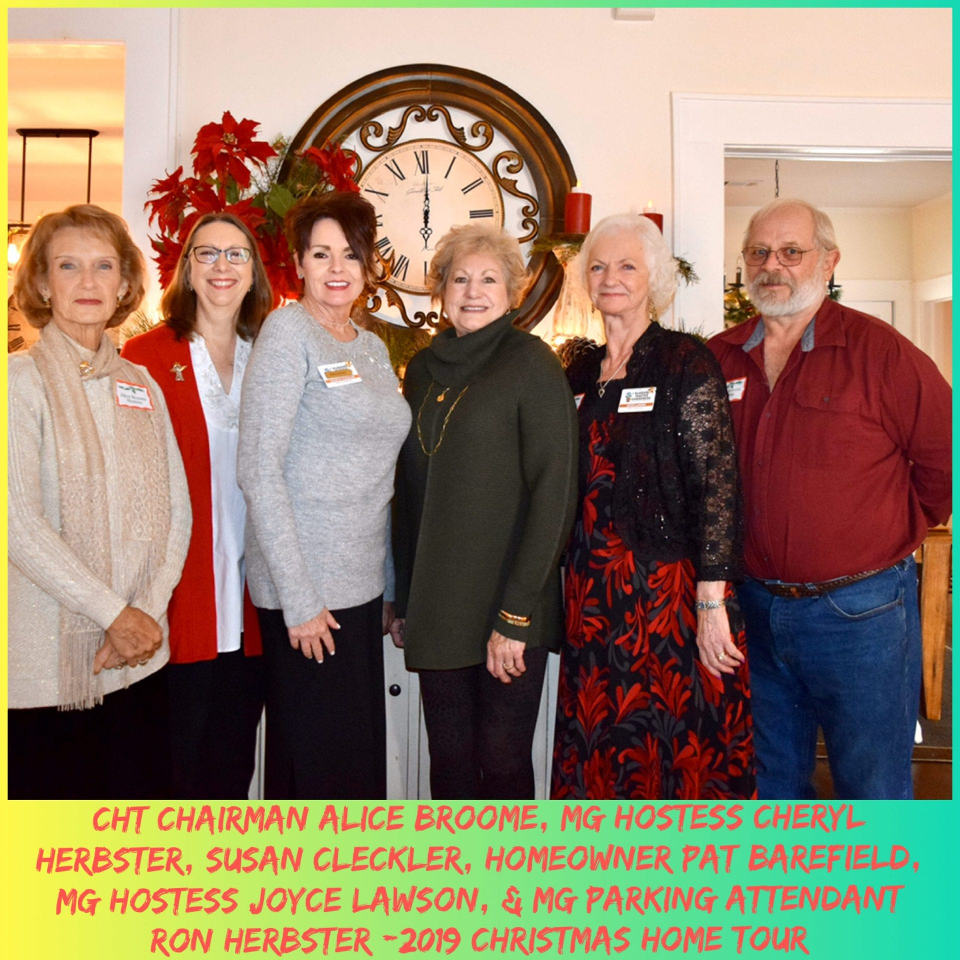 MG hostesses at Pat Barefield home for 2019 Christmas Home Tour