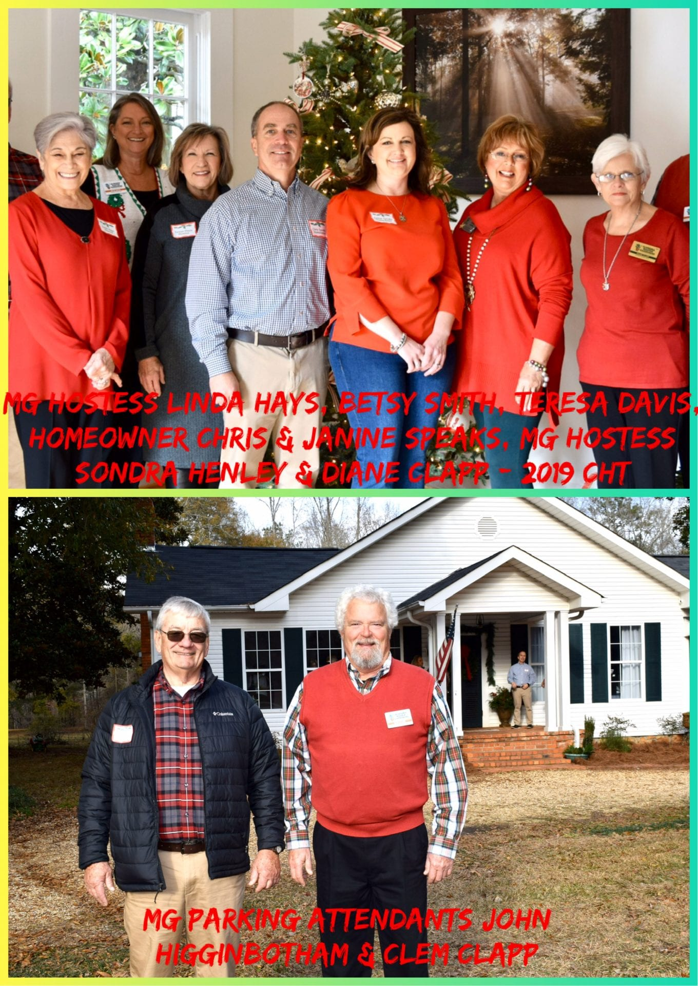 MG hostesses and parking attendants at Chris Speaks Home 2019 Christmas Home Tour