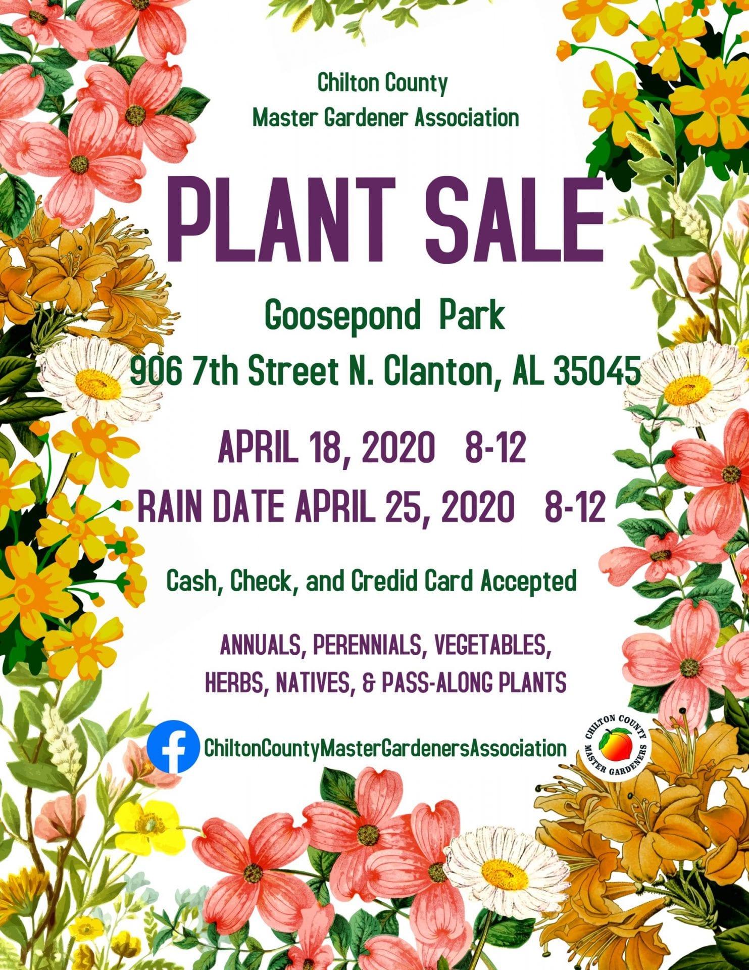 2020 Spring plant sale
