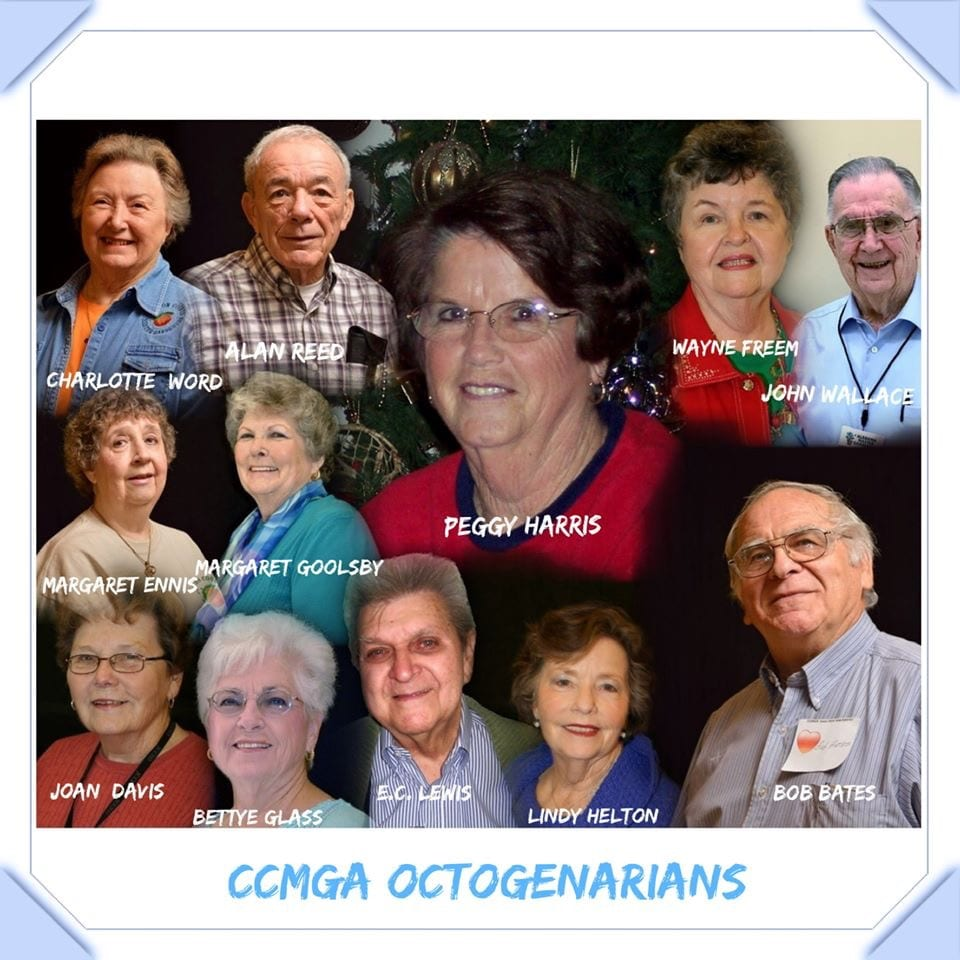Collage of members over 80