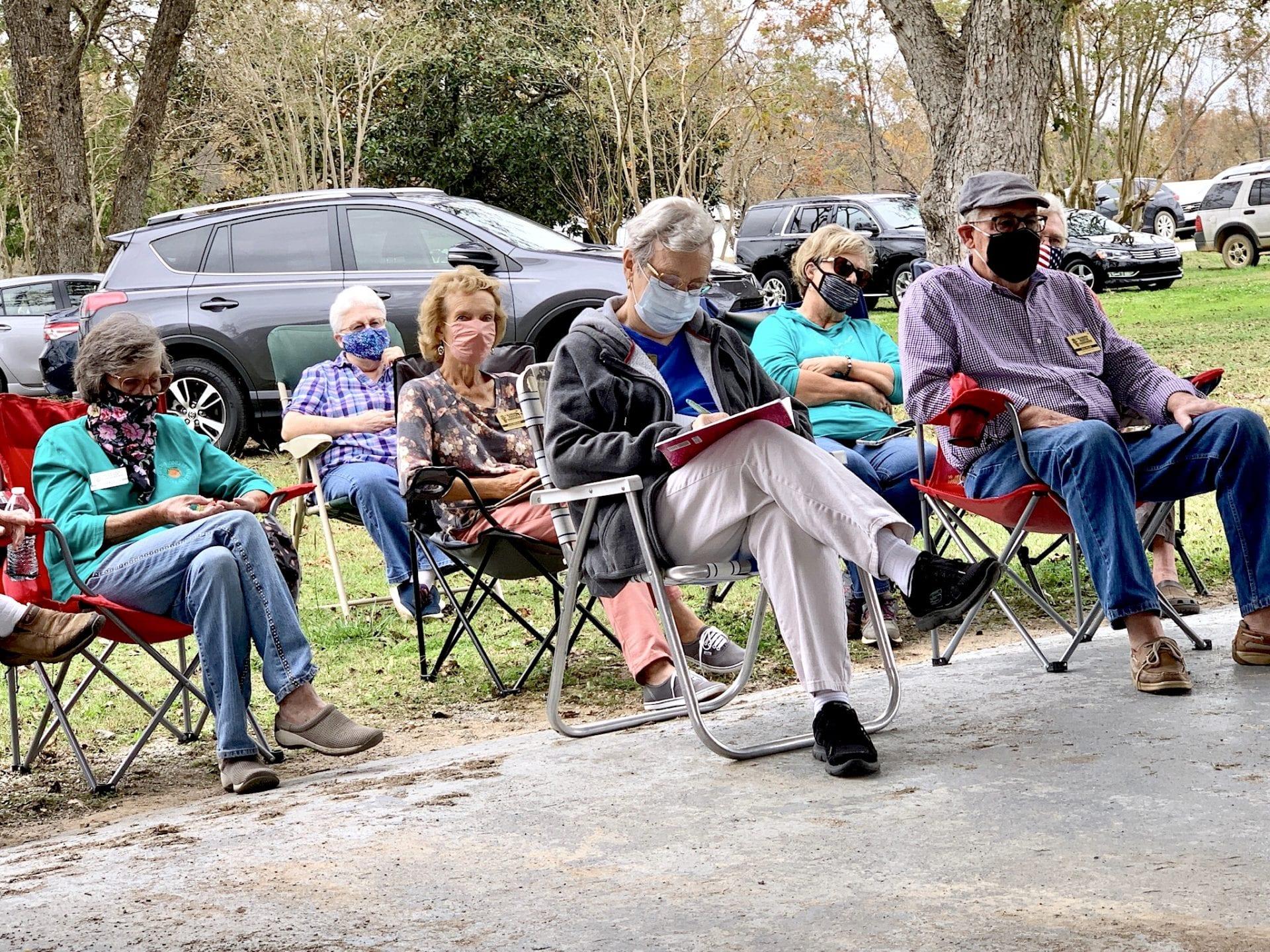 Members meeting outside at CREC