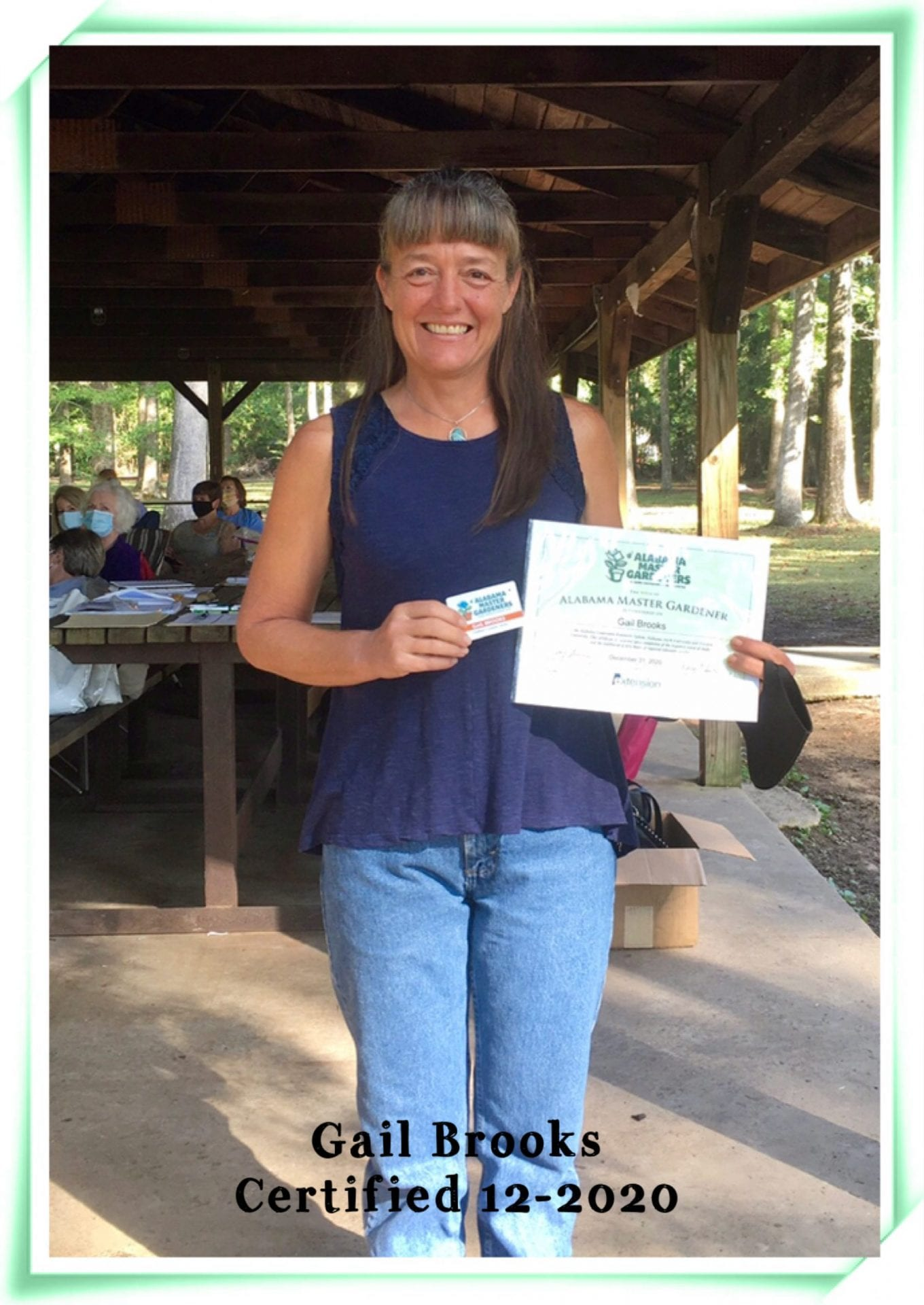 Gail brooks gets certificate